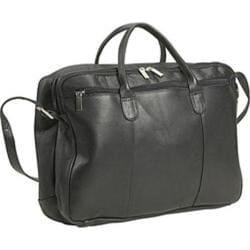 David King Leather 178 Double Zip Portfolio Black