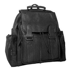 David King Leather 329 Top Handle Backpack Black