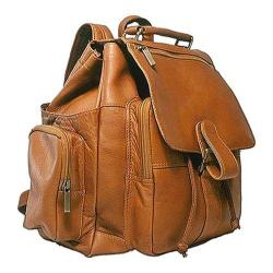 David King Leather 330 Top Handle XL Backpack Tan