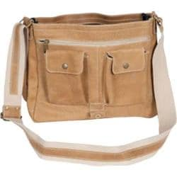 David King Leather 6152 Medium Distressed Laptop Messenger Bag Tan