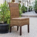 International Caravan 'Arizona' Woven Abaca Chair with Mahogany Hardwood Frame