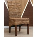 International Caravan 'Gaby' Woven Chair with Mahogany Hardwood Frame