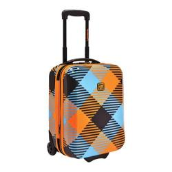 Loudmouth Luggage Microwave 18in Expandable Rolling Luggage Orange/Blue