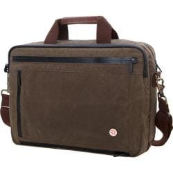 Token Waxed Canvas Montrose Briefcase Dark Brown