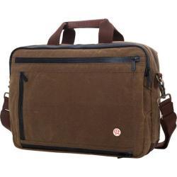 Token Waxed Canvas Montrose Briefcase Field Tan