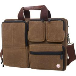 Token Waxed Hewes Briefcase Field Tan