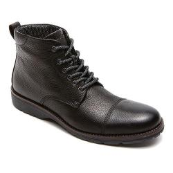 Men's Rockport Total Motion Street Cap Boot Black Leather