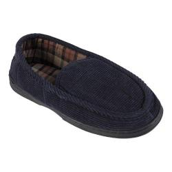 Men's Daxx Lined Corduroy Moccasin Slipper Shoes Blue