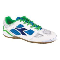 Men's Diadora Quinto V ID Soccer Shoe White/Royal/Fluo Yellow