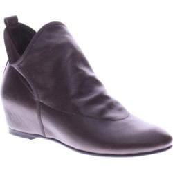 Women's Azura Metro Wedge Boot Dark Brown Leather