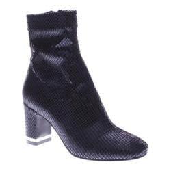 Women's Azura Splatter Ankle Boot Black Python Lycra