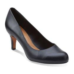 Women's Clarks Arista Abe Pump Black Leather