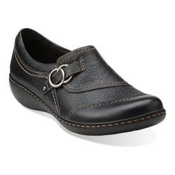 Women's Clarks Ashland Indigo Black Tumbled Leather