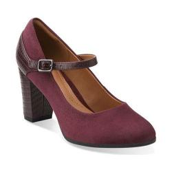 Women's Clarks Bavette Cathy Burgundy Combination Suede