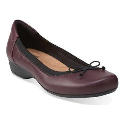 Women's Clarks Blanche Nora Burgundy Leather