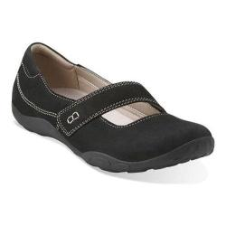 Women's Clarks Haley Skylar Mary Jane Black Nubuck