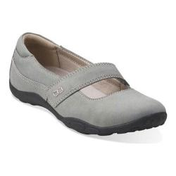 Women's Clarks Haley Skylar Mary Jane Grey Nubuck