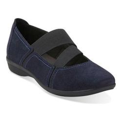 Women's Clarks Haydn Juniper Mary Jane Navy Suede