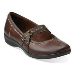 Women's Clarks Haydn Maize Flat Brown Leather