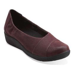 Women's Clarks Sillian Intro Burgundy Synthetic Nubuck