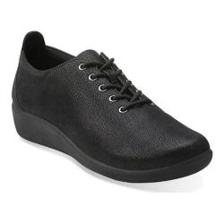 Women's Clarks Sillian Tino Oxford Black Synthetic Nubuck