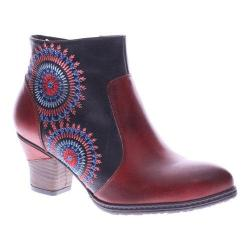 Women's L'Artiste by Spring Step Remarkable Ankle Boots Dark Red Multi Leather