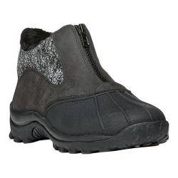Women's Propet Blizzard Ankle Zip Boot Black/Black Knit Leather/Nylon