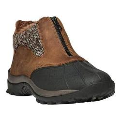 Women's Propet Blizzard Ankle Zip Boot Brown/Brown Knit Leather/Nylon