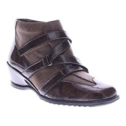 Women's Spring Step Allegra Wedge Bootie Brown Patent Leather