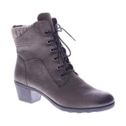 Women's Spring Step Machico Lace Up Boot Gray Nubuck Leather