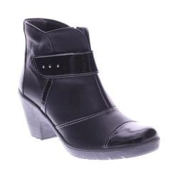Women's Spring Step Manifest Bootie Black Leather
