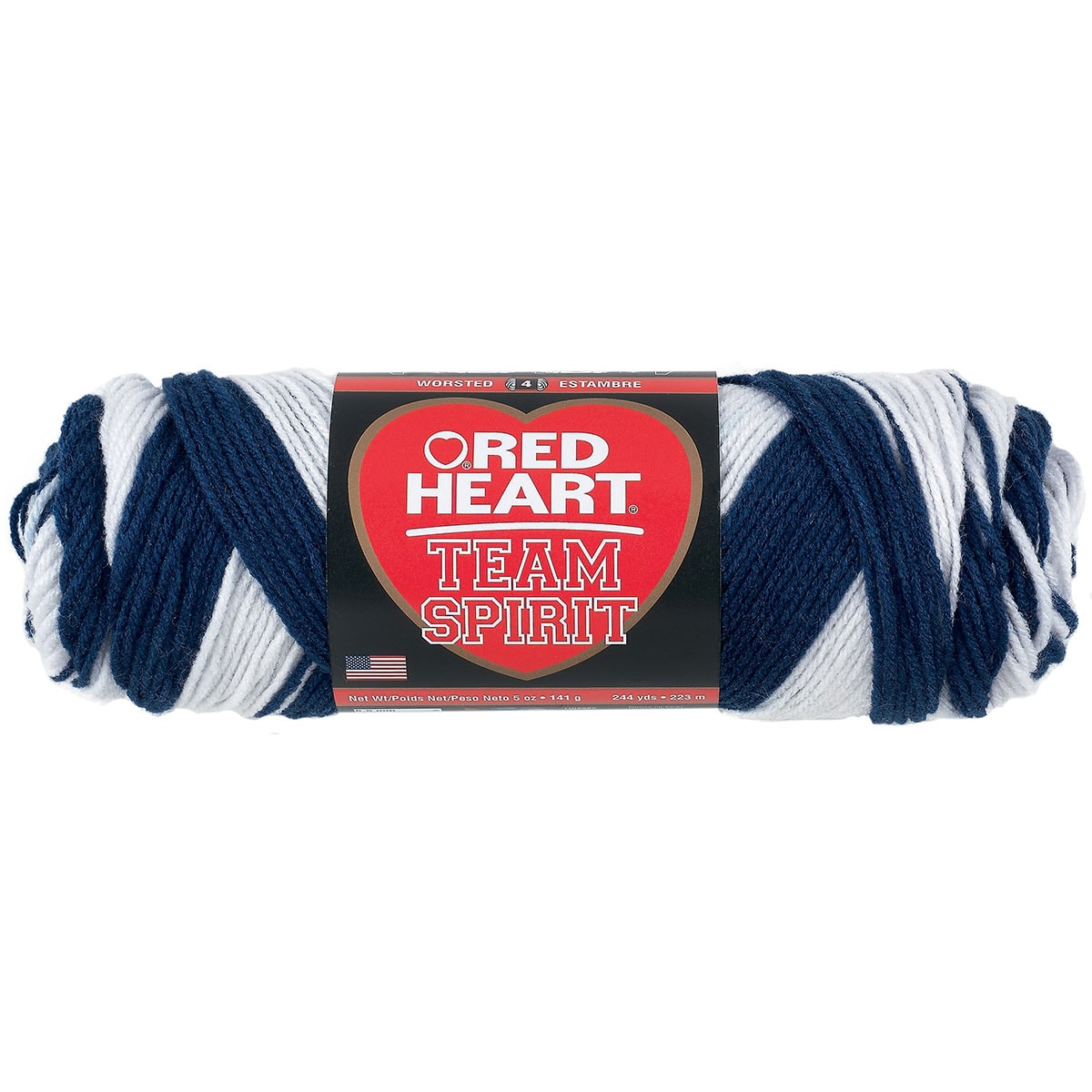 Red Heart Team Spirit YarnNavy & White