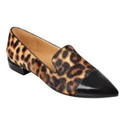 Women's Nine West Trainer Pointed Toe Flat Natural Multi/Black Print Pony