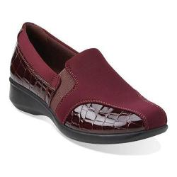 Women's Clarks Gael Beam Loafer Burgundy Synthetic