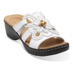 Women's Clarks Hayla Ivy Sandal White Leather