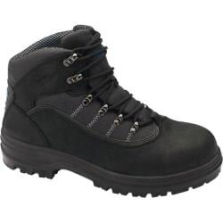 Men's Blundstone Xfoot Range Lace Up Hiker Boot Black Nubuck Leather