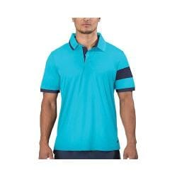 Men's Fila Heritage Placket Polo Turquoise/Peacoat