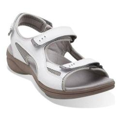 Women's Clarks InMotion Thorn Sandal White/Grey Leather