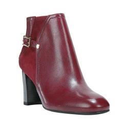 Women's Franco Sarto Deora Ankle Boot Bordo Premium Plus Apache/Stretch Suede Punto