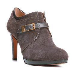 Women's Franco Sarto Sabelle Bootie Charcoal Grey Lux Brushed Suede/Nappa Synthetic
