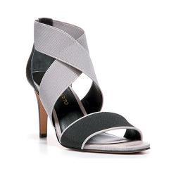 Women's Franco Sarto Safara Sandal Black/Foggy Grey Elastic/Matte Snake