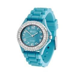 Women's Silver Bin SW-7805-3 Turquoise Silicone/Turquoise