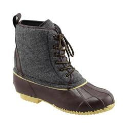 Men's Superior Boot Co. Felt Lace Up Duck Boot Grey