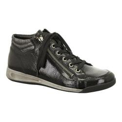 Women's ara Rylee 44410 Black Crinkle Patent/Metallic Accent 16326082