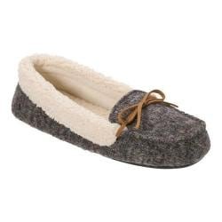 Women's Dearfoams Multi Fabrication Moccasin Slipper Dark Heather Grey