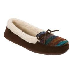 Women's Dearfoams Multi Fabrication Moccasin Slipper Warm Combo