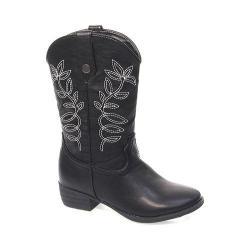 Girls' Laura Ashley LA20321M Cowboy Boot Black Polyurethane