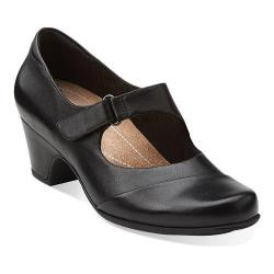 Women's Clarks Sugar Palm Black Leather