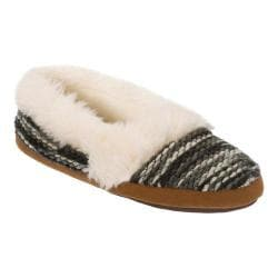 Women's Dearfoams Chunky Fun Knit Espadrille Slipper Black