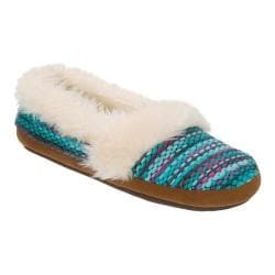 Women's Dearfoams Chunky Fun Knit Espadrille Slipper Blue